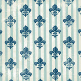 3518 Teal Stripe Fleur De Lis Backdrop - Backdrop Outlet