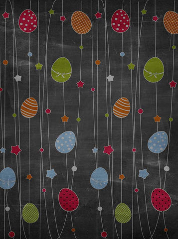 3530 Easter Chalkboard Eggs Color Backdrop - Backdrop Outlet