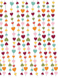 Colorful Strings of Hearts Backdrop - 356 - Backdrop Outlet