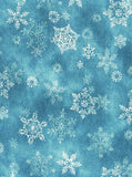 Large Blue Snowflake Backdrop - 3601 - Backdrop Outlet