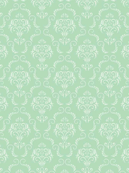 Damask Green Citrus Backdrop - 4058 - Backdrop Outlet