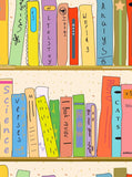 Colorful Books Backdrop School - 4211 - Backdrop Outlet
