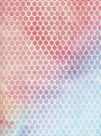 425 Printed Hive Pattern Rainbow Backdrop - Backdrop Outlet