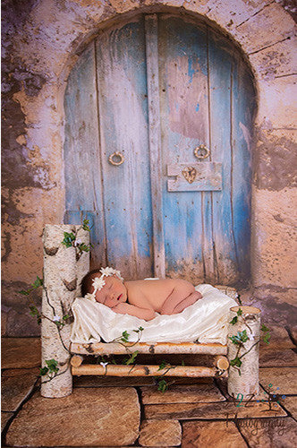 Castle Door with Stone Floor Backdrop - 4315 - Backdrop Outlet