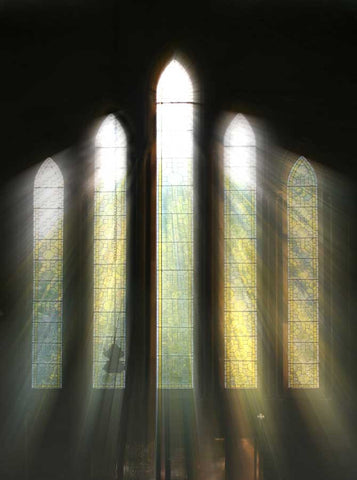 Printed Church Window Light Photo Backdrop - 445 - Backdrop Outlet