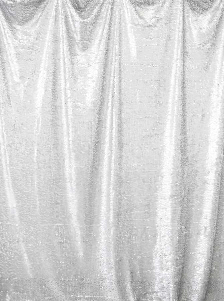 Printed Sequin white Backdrop - 4600 - Backdrop Outlet