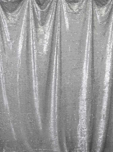 Printed Sequin Light Silver Backdrop - 4607 - Backdrop Outlet