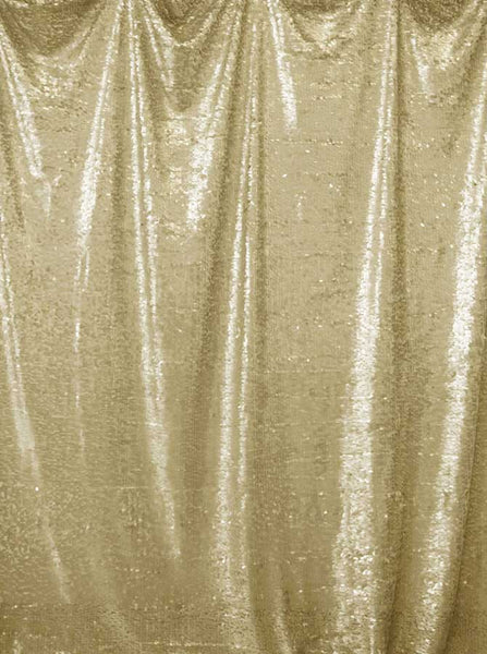 Printed Sequin Golden Gold Backdrop - 4609 - Backdrop Outlet