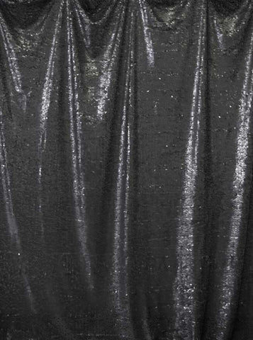 4614 Printed Sequin Black Backdrop - Backdrop Outlet