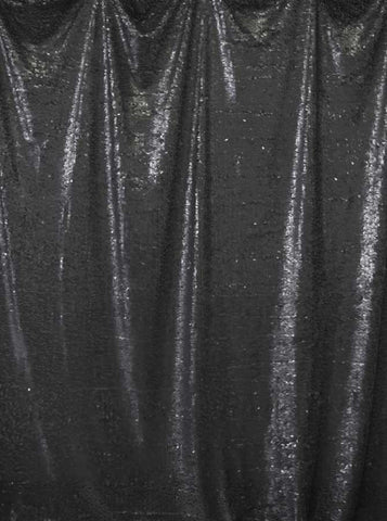 4615 Printed Sequin Soft Black Backdrop - Backdrop Outlet