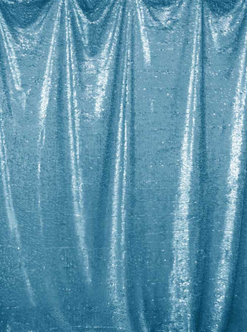 4621 Printed Sequin Light Blue Backdrop - Backdrop Outlet