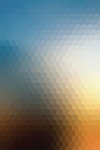 Geometric Gradient Blue Yellow Backdrop - 4633 - Backdrop Outlet