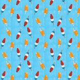 Popsicle Pattern Blue Photography Backdrop - 4644 - Backdrop Outlet