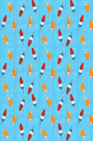 4644 Popsicle Pattern Blue Photography Backdrop - Backdrop Outlet