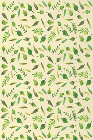 4645 Leaf Greenery Printed Backdrop