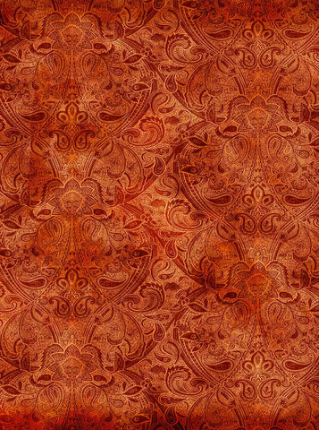 Damask Blazing Bonfire Backdrop - 528 - Backdrop Outlet