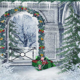 Christmas Garland Archway Backdrop - 5300 - Backdrop Outlet