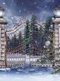 Snowy Christmas Gateway Backdrop - 5303 - Backdrop Outlet