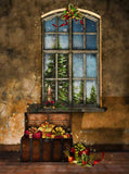 Christmas Presents Indoor Window Backdrop - 5307 - Backdrop Outlet