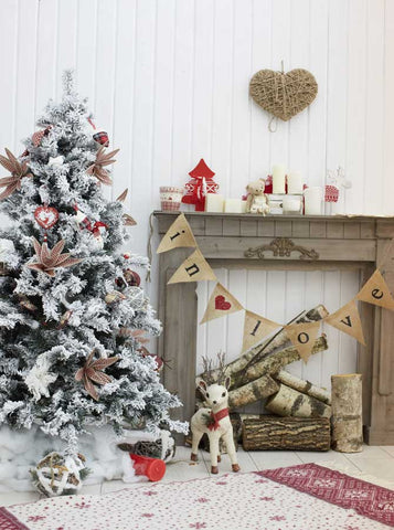 5308 Christmas Indoor In Love Banner Backdrop - Backdrop Outlet