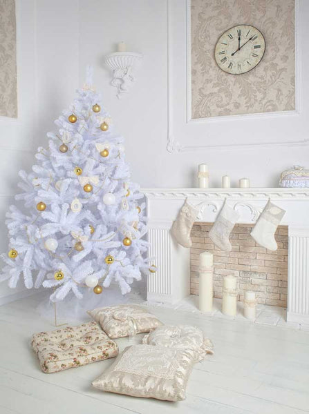 5310 White Christmas Tree Indoor Backdrop - Backdrop Outlet