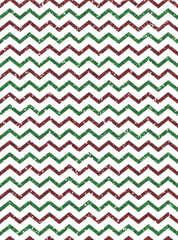 Red White Green Chevron - 5312 - Backdrop Outlet