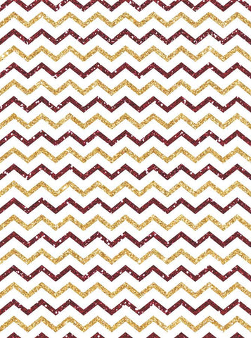 5313 Red White Gold Chevron - Backdrop Outlet