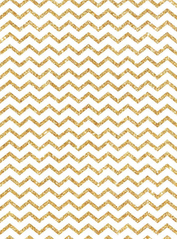 5315 Thin Gold White Chevron - Backdrop Outlet