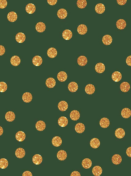 5318 Green Gold Sparkle Dots - Backdrop Outlet