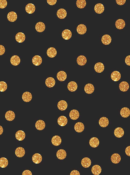 Black Gold Sparkle Dots - 5319 - Backdrop Outlet