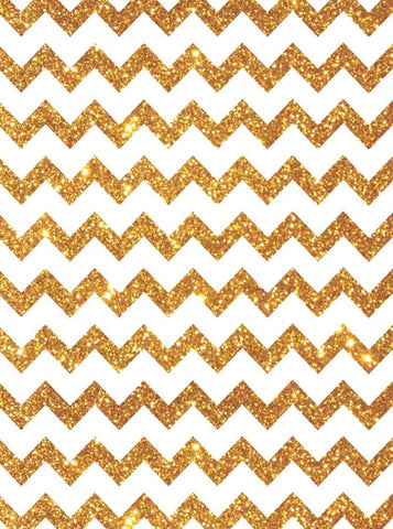 5320 Bold Gold White Chevron - Backdrop Outlet