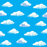 6129 Puffy Clouds Backdrop - Backdrop Outlet