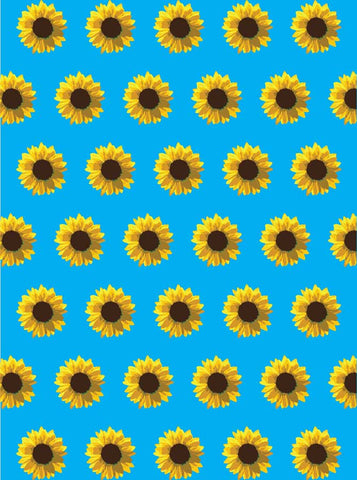 6130 Yellow Daisy Pattern Backdrop - Backdrop Outlet