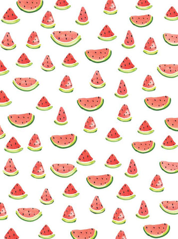 6141 Printed Watercolor Watermelon Picnic Party Backdrop - Backdrop Outlet
