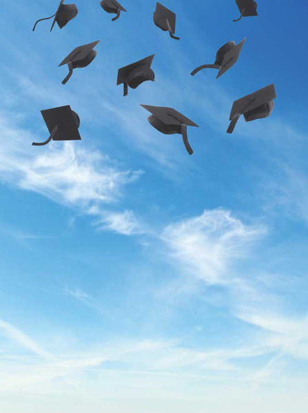 Grad Hat Toss In The Sky Backdrop - 6154 - Backdrop Outlet