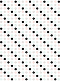 6166 Black And Pastel Polka Dot On White Printed Backdrop - Backdrop Outlet