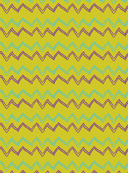 Green With Blue And Purple Chevron Playful Hand Drawn Backdrop - 6180 - Backdrop Outlet