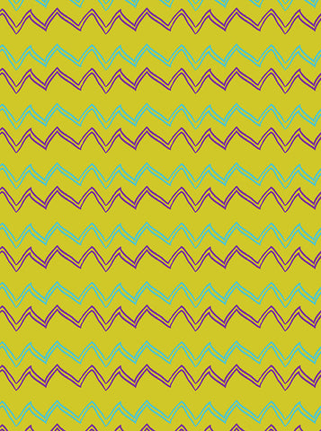 6180 Green With Blue And Purple Chevron Playful Hand Drawn Backdrop - Backdrop Outlet