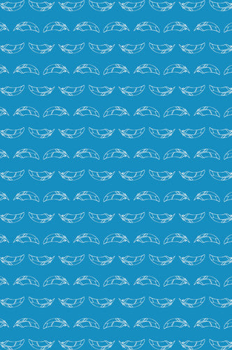Floating White Feather Pattern Printed Backdrop - 6184 - Backdrop Outlet