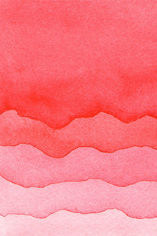 6221 Red Valentines Watercolor Printed Background - Backdrop Outlet