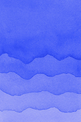 6222 Blue Ocean Waves Watercolor Printed Backdrop - Backdrop Outlet