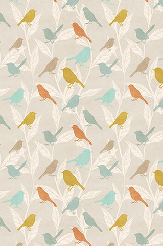 6231 Autumn Birds Perched On Tree Branches Background - Backdrop Outlet