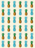 6235 Blue Sky Pineapple Printed Background - Backdrop Outlet