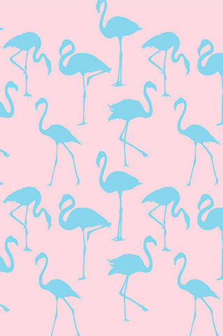 6238 Blue Flamingo On Pink Background Photography Backdrop - Backdrop Outlet