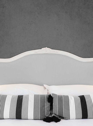 6245 Bed Headboard with Pillows and Gray Texture Wall Printed Backdrop - Backdrop Outlet