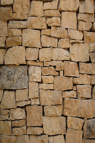 6254 Brown Stone Piled Brick Wall Texture Backdrop