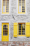 Canary Yellow Door Open Shutter Window Backdrop - 6259 - Backdrop Outlet