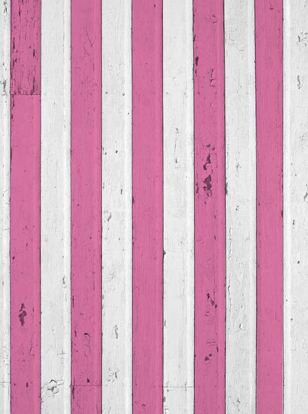 Pink and White Valentine Wood Backdrop - 6267 - Backdrop Outlet