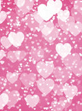 6269 White Hearts on Pink Collage Valentine Backdrop - Backdrop Outlet