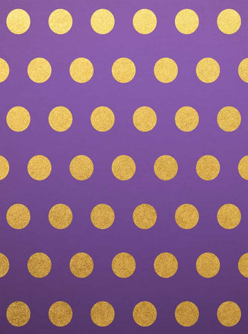 6270 Purple and Gold Circles Mardi Gras Backdrop - Backdrop Outlet